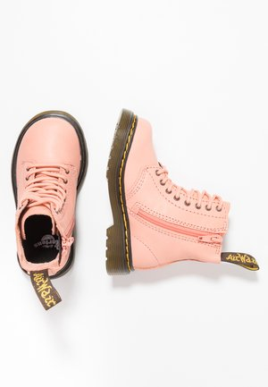 PASCAL - Lace-up ankle boots - salmon pink