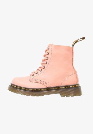 PASCAL - Botines con cordones - salmon pink