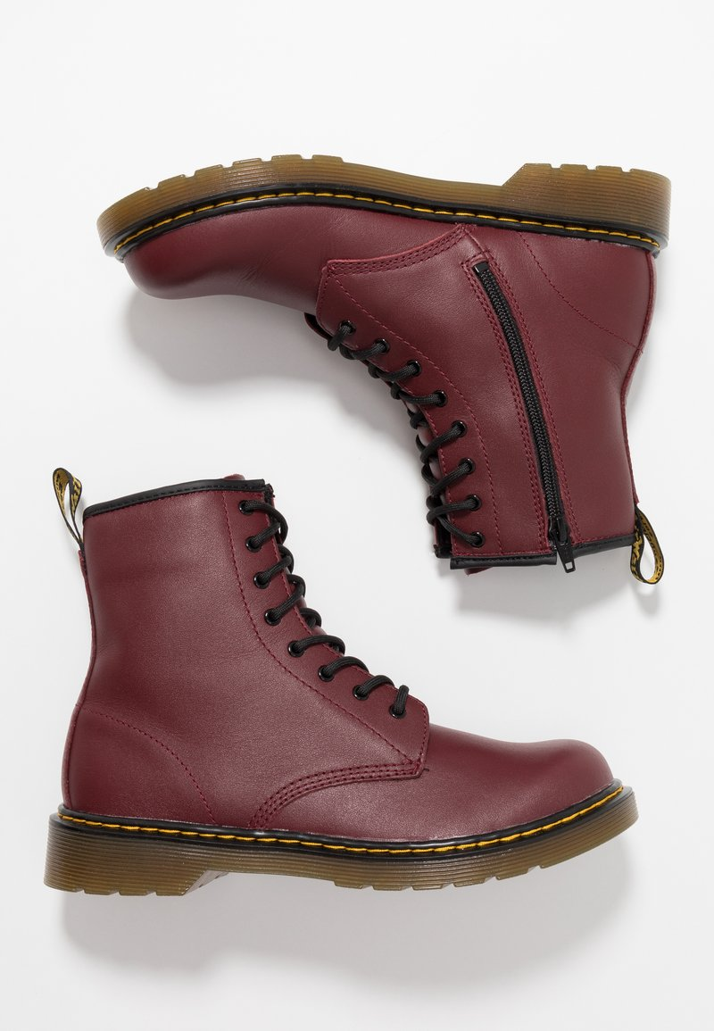 Dr. Martens - 1460 8-EYE BOOT YOUTH - Botki - cherry red