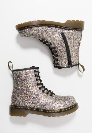 1460 GLITTER - Lace-up ankle boots - multicolor/silver