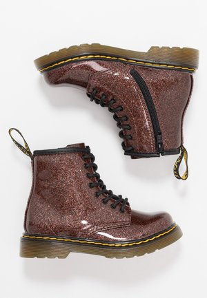 1460 GLITTER I - Bottines à lacets - rose brown