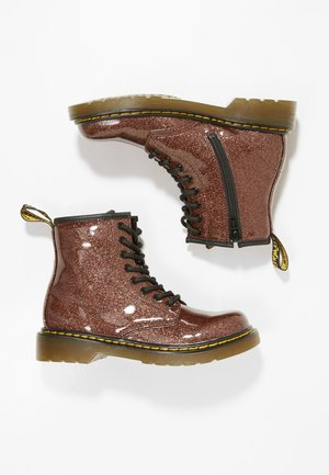 1460 GLITTER JUNIOR - Lace-up ankle boots - rose brown