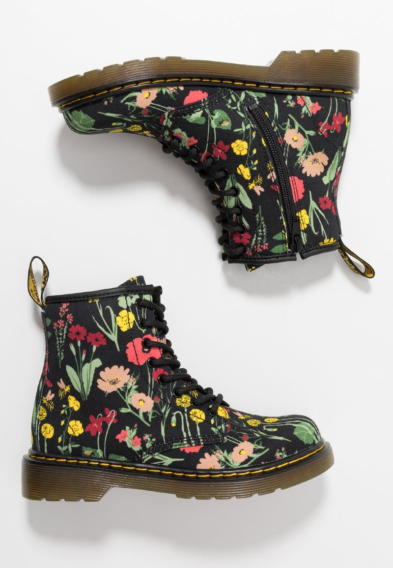 Dr. Martens - 1460 WILD BOTANICS JUNIOR - Lace-up ankle boots - black