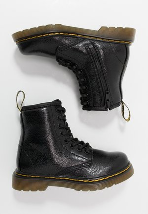 1460 J  Crinkle Metallic - Lace-up ankle boots - black metallic