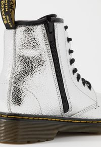 Dr. Martens - 1460 J - Lace-up ankle boots - silver metallic