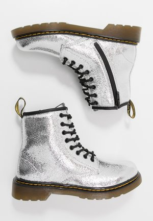 1460 J - Lace-up ankle boots - silver metallic