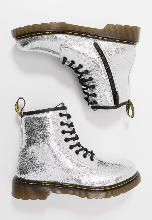 1460 J - Bottines à lacets - silver metallic