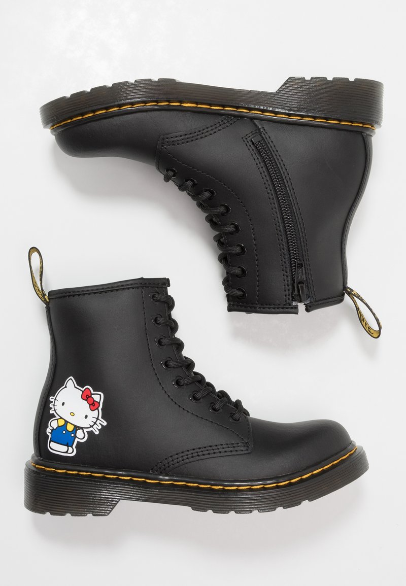 Dr. Martens - 1460 HELLO -KITTY J - Lace-up ankle boots - black