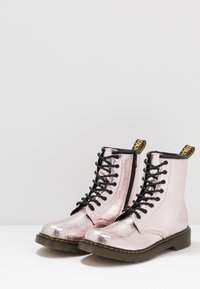 Dr. Martens - 1460 - Lace-up ankle boots - pink salt crinkle metallic - 3