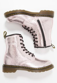 Dr. Martens - 1460 - Lace-up ankle boots - pink salt crinkle metallic - 0
