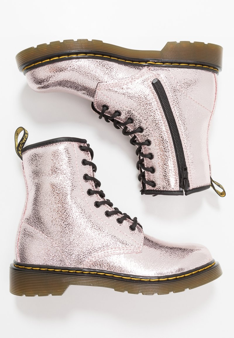 Dr. Martens - 1460 - Lace-up ankle boots - pink salt crinkle metallic