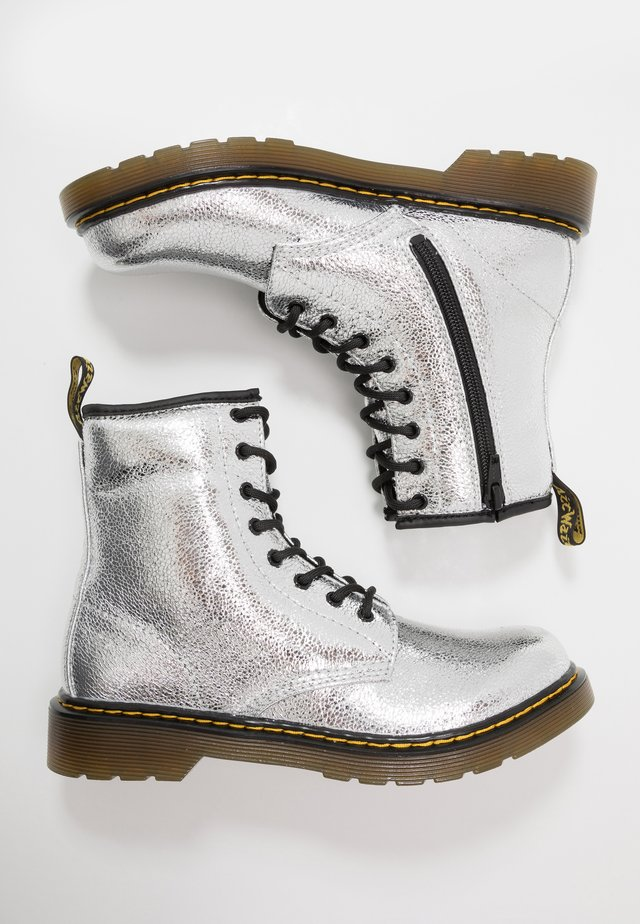 1460  - Bottines à lacets - silver metallic