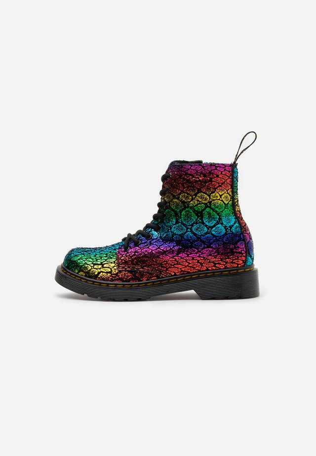 1460 PASCAL - Lace-up ankle boots - black / rainbow