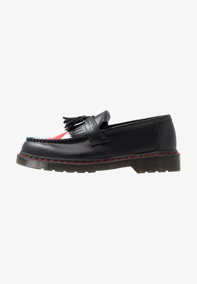 ADRIAN WHO - Scarpe senza lacci - black smooth