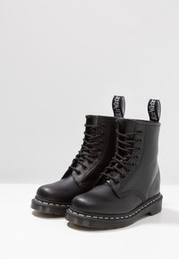 Dr. Martens - 1460  BOOT - Lace-up ankle boots - black/white - 2