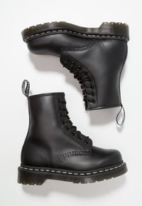 Dr. Martens - 1460  BOOT - Lace-up ankle boots - black/white - 1