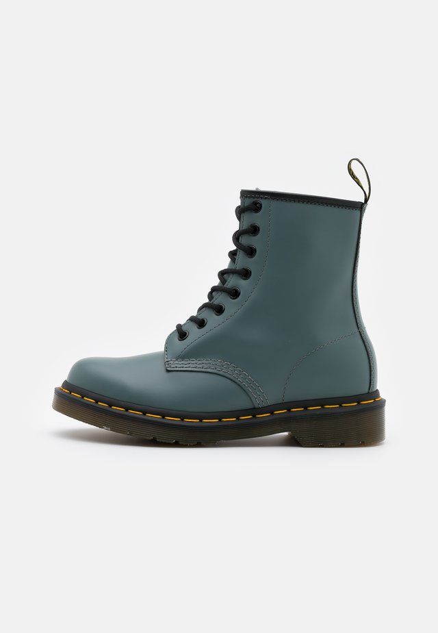 1460 8 EYE BOOT - Snörstövletter - steel grey smooth