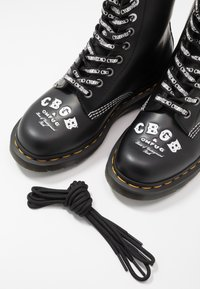 Dr. Martens - 1460 CBGB - Lace-up ankle boots - black - 5