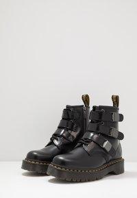 Dr. Martens - 1460 FENIMORE HARDWARE 8 EYE - Cowboy/biker ankle boot - black - 2