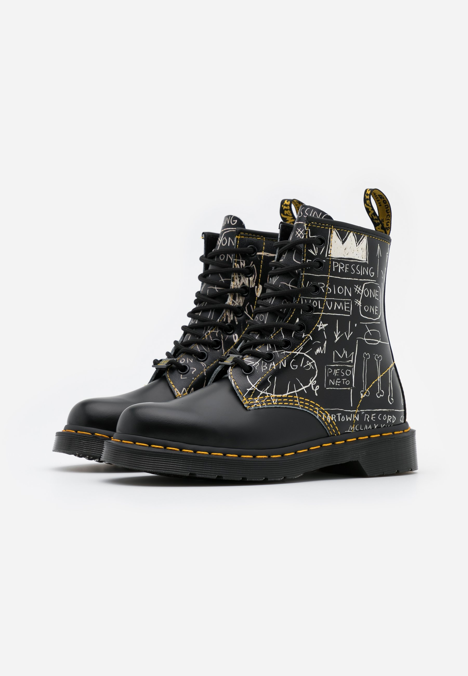 1460 BASQUIAT Veterboots whiteblack smooth