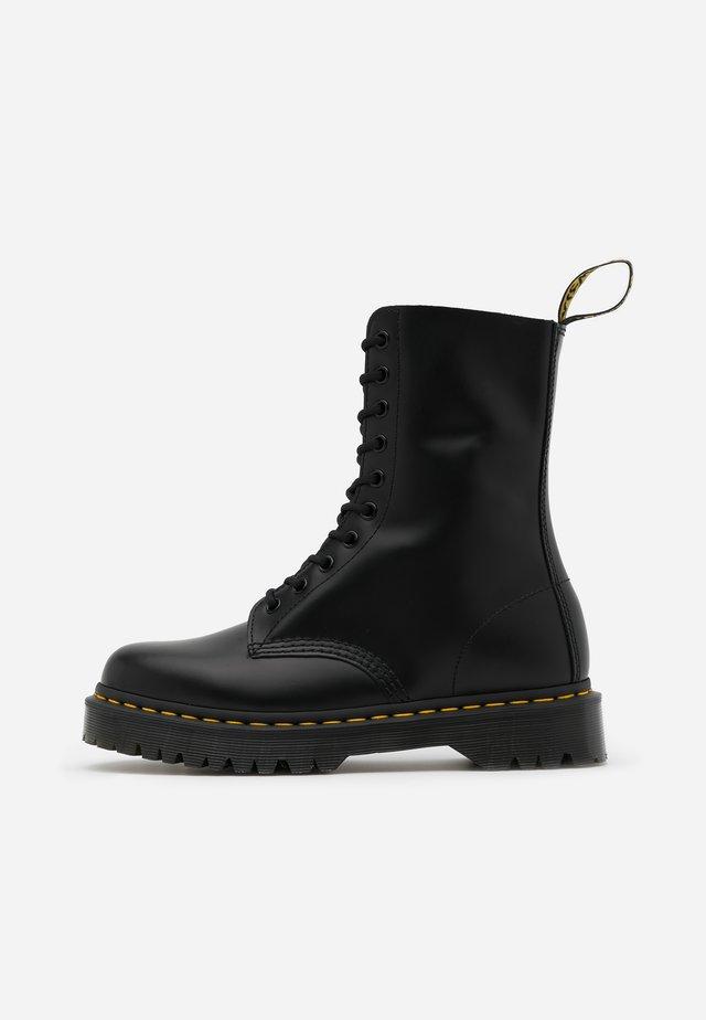 1490 BEX - Snørestøvler - black smooth