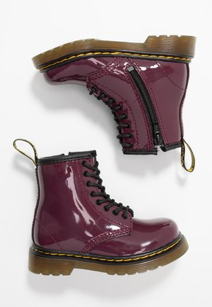 1460 PATENT I - Lace-up ankle boots - plum
