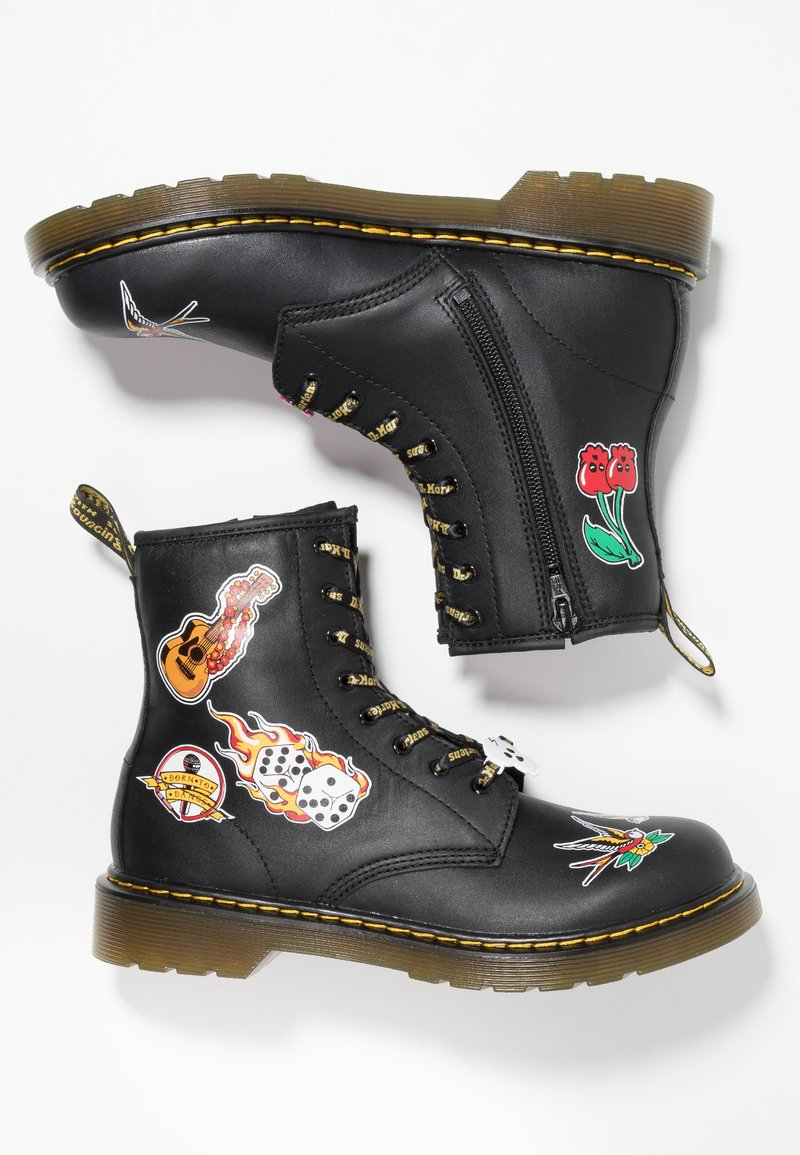 Dr. Martens - 1460 PATCH - Lace-up ankle boots - romario