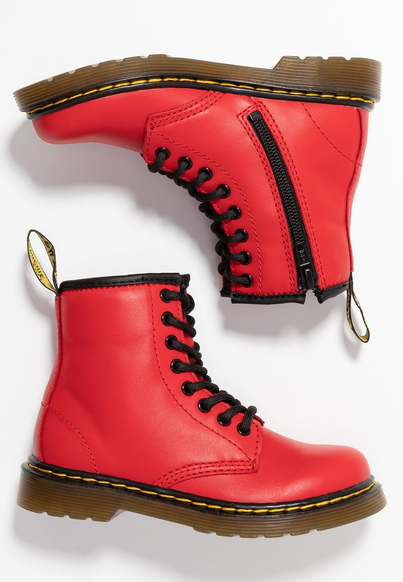 Dr. Martens - 1460 J Romario - Lace-up ankle boots - satchel red romario