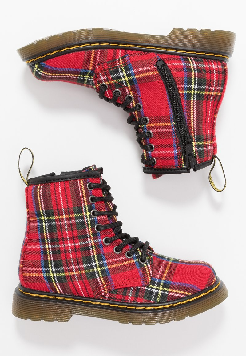Dr. Martens - 1460 TARTAN - Lace-up ankle boots - red
