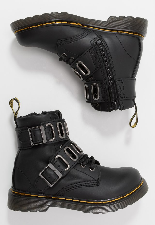 QUYNN - Lace-up ankle boots - black romario