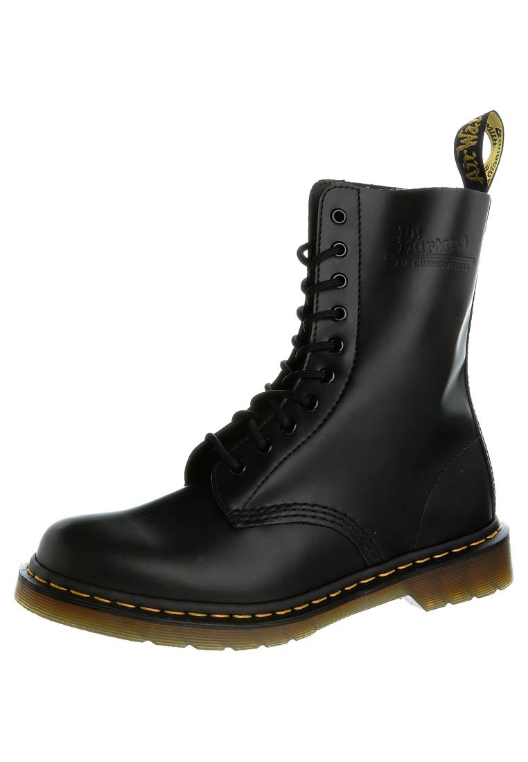Dr. Martens - ORIGINALS 1490 10 EYE BOOT - Lace-up boots - black