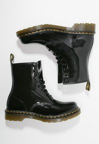 Dr. Martens - 1460 8 EYE BOOT LAMPER - Lace-up ankle boots - black - 1
