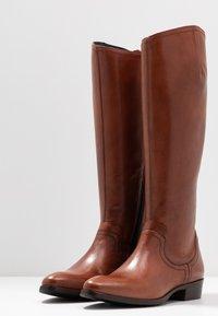 Donna Carolina - Vysoká obuv - cognac - 4