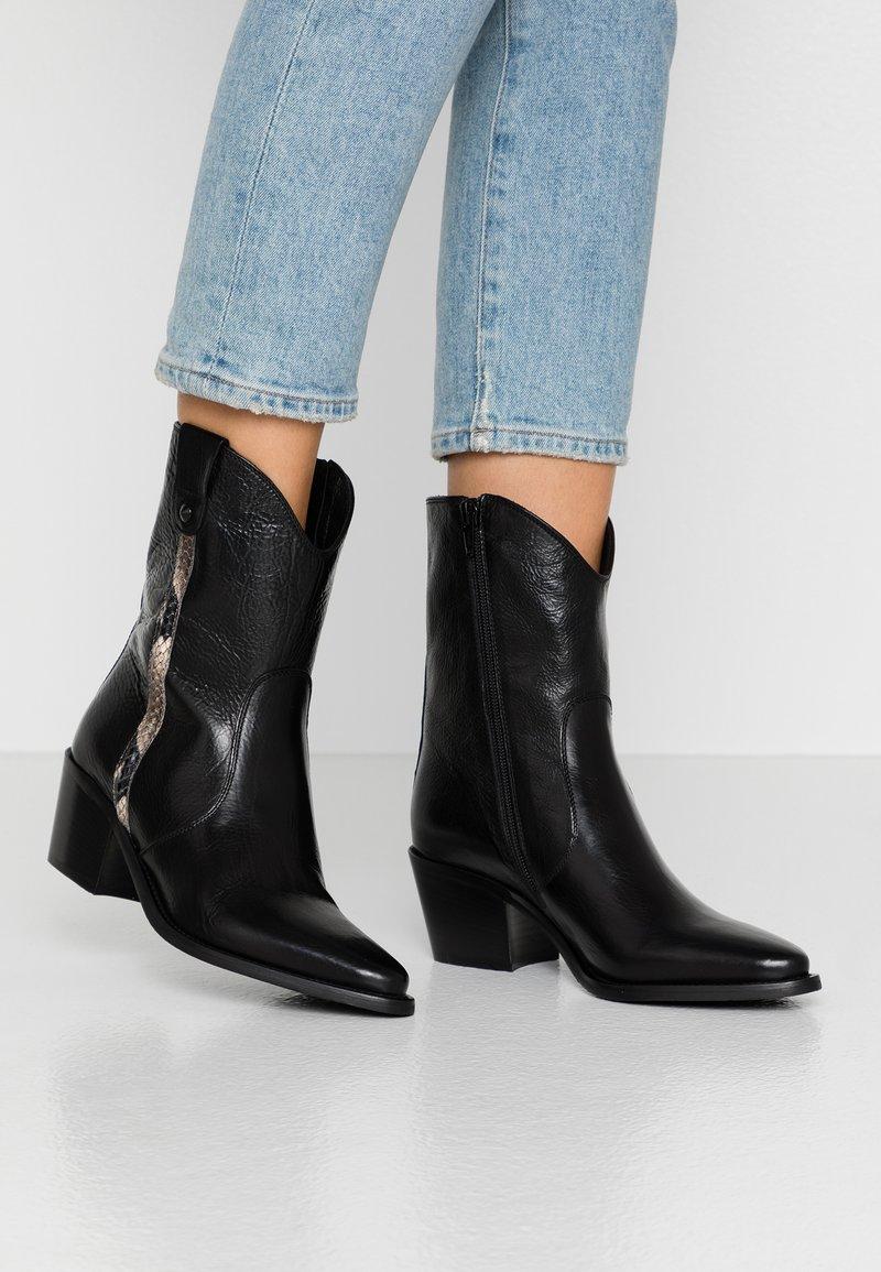 Donna Carolina - Kovbojské/motorkářské boty - texas nero