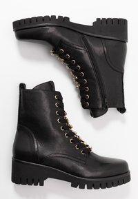 Donna Carolina - Šněrovací kotníkové boty - texas nero - 3