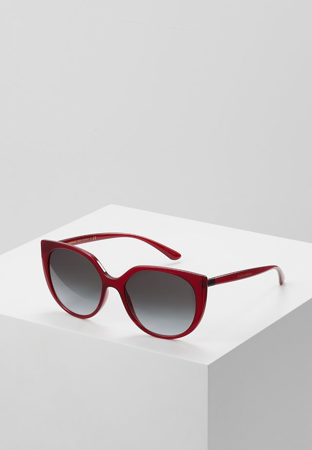 Sunglasses - transparent bordeaux
