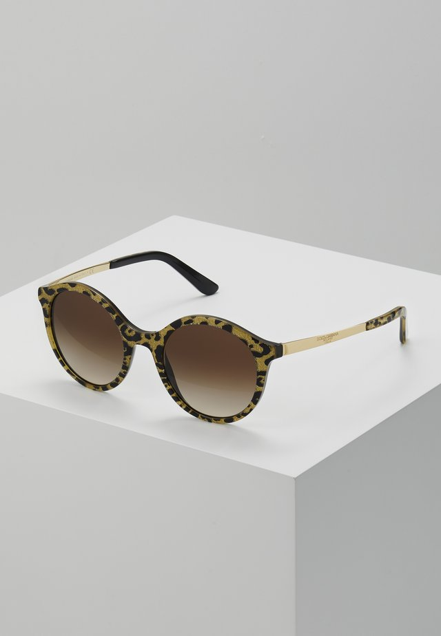 Sunglasses - gold on black