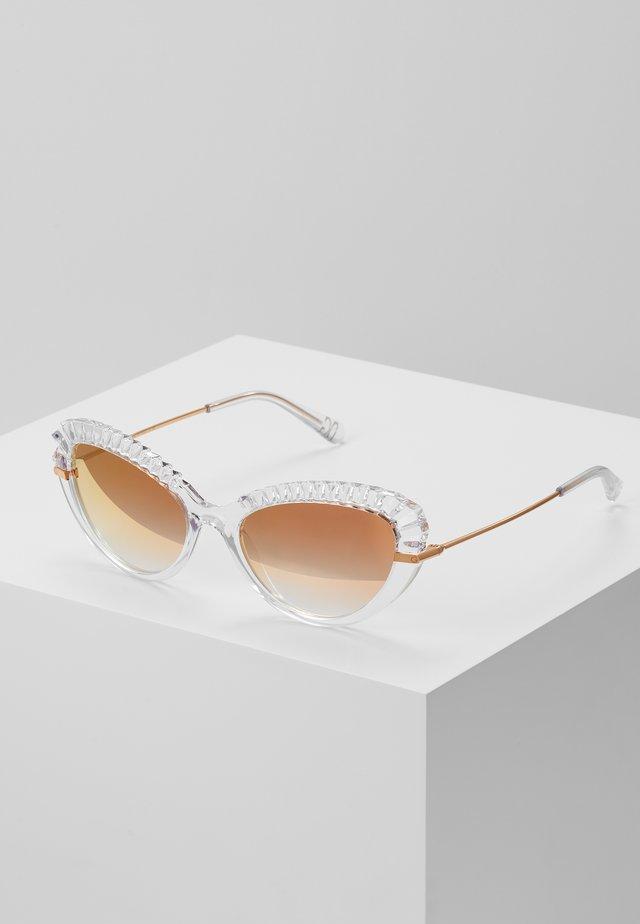 Okulary przeciwsłoneczne - transparent/pink