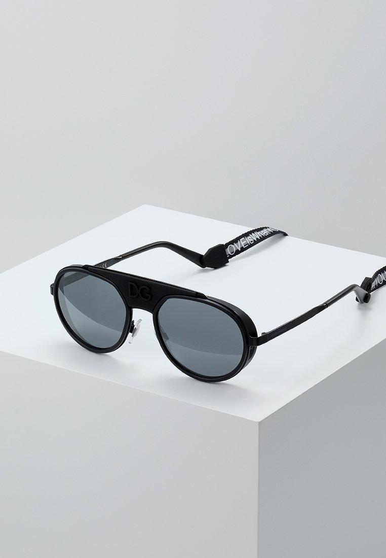 Dolce&Gabbana - Gafas de sol - black/matte black/light grey mirror black