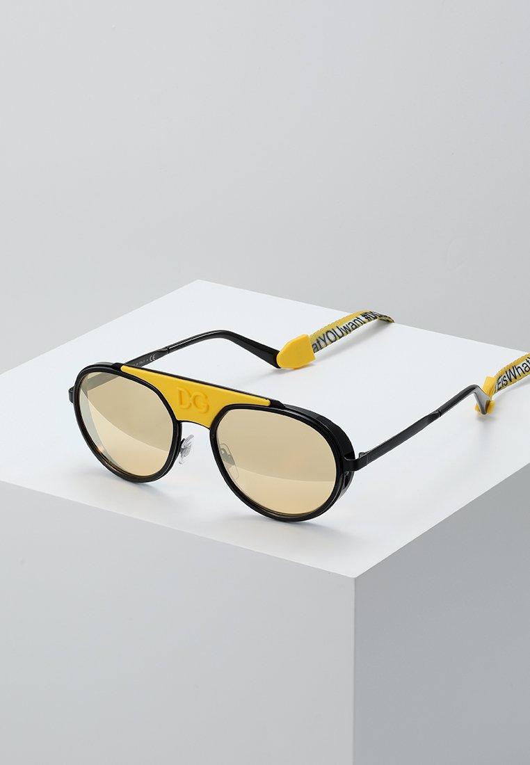 Dolce&Gabbana - Sunglasses - matte black/black/orange mirror pink