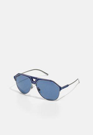 Sunglasses - gunmetal/blue matte