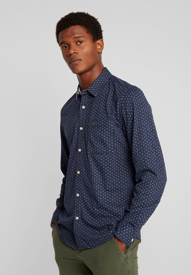 ALPHA BUTTON UP - Hemd - burke deep blue night