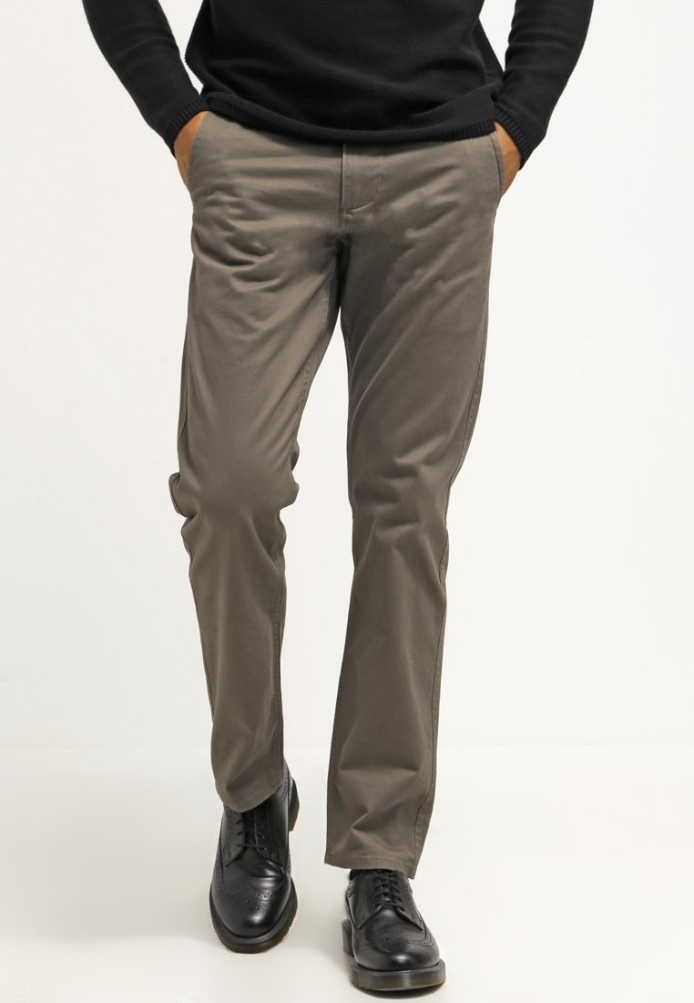 DOCKERS - ALPHA ORIGINAL SLIM TAPERED - Trousers - dark pebble core