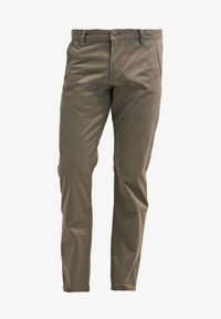 DOCKERS - ALPHA ORIGINAL SLIM TAPERED - Trousers - dark pebble core - 6