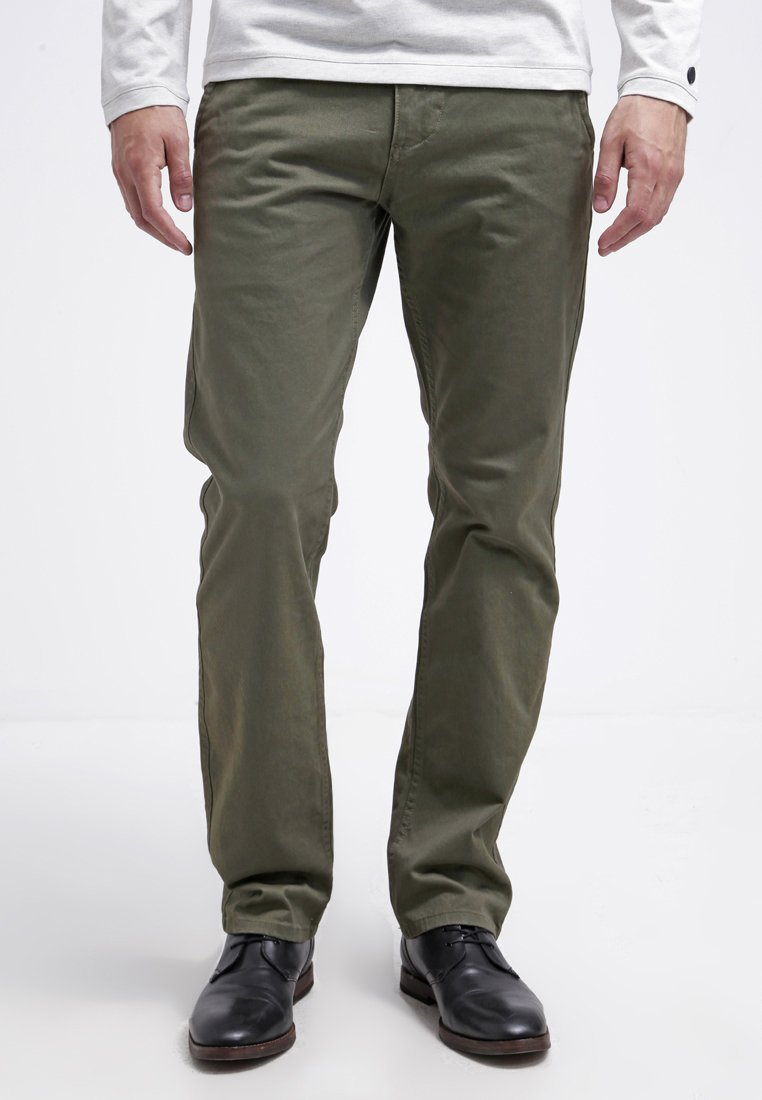 DOCKERS - ALPHA ORIGINAL SLIM TAPERED - Trousers - olive core
