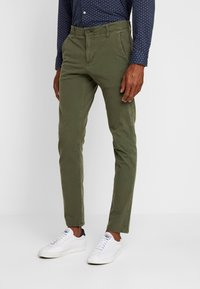 DOCKERS - SMART 360 FLEX ALPHA SKINNY - Chino - olive - 0
