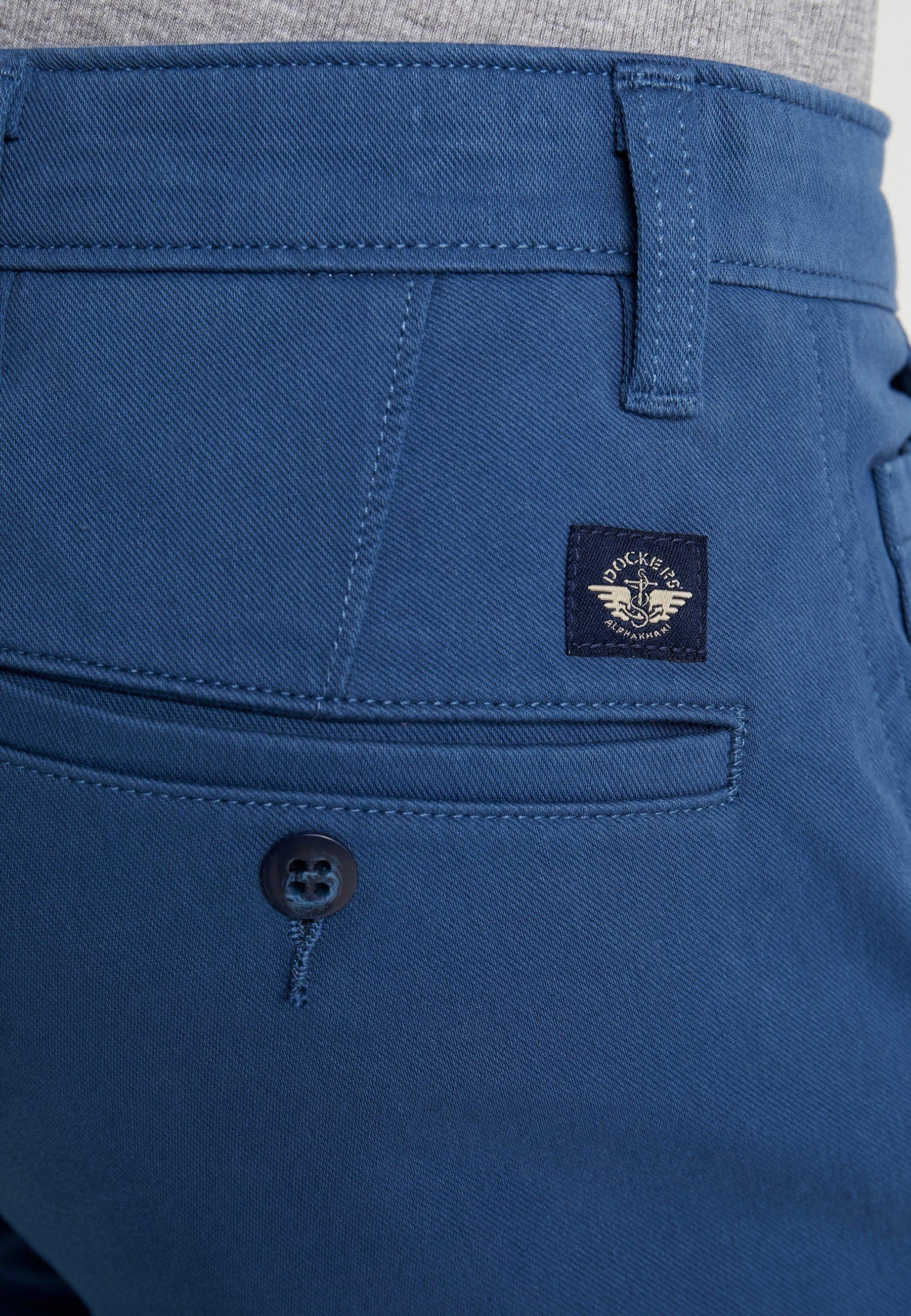 DOCKERS SMART SUPREME FLEX SKINNY - Chinosy - ensign blue