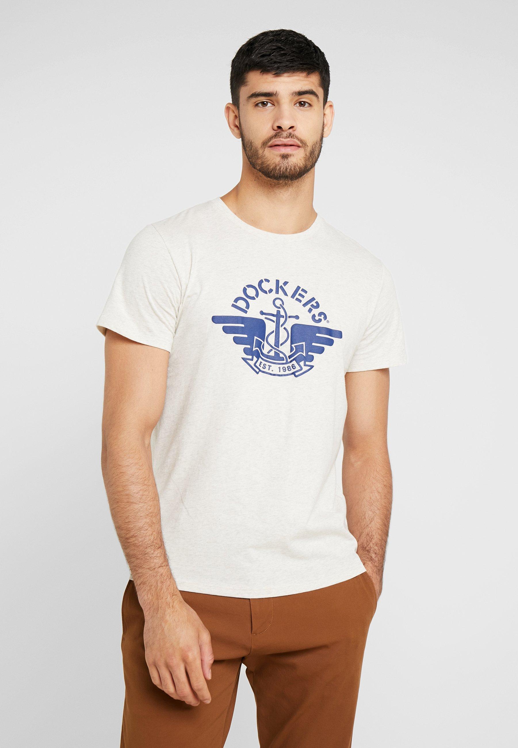 DOCKERS GRAPHIC - Camiseta estampada oatmeal heather