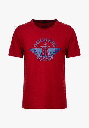 GRAPHIC - Triko s potiskem - logo biking red/navy
