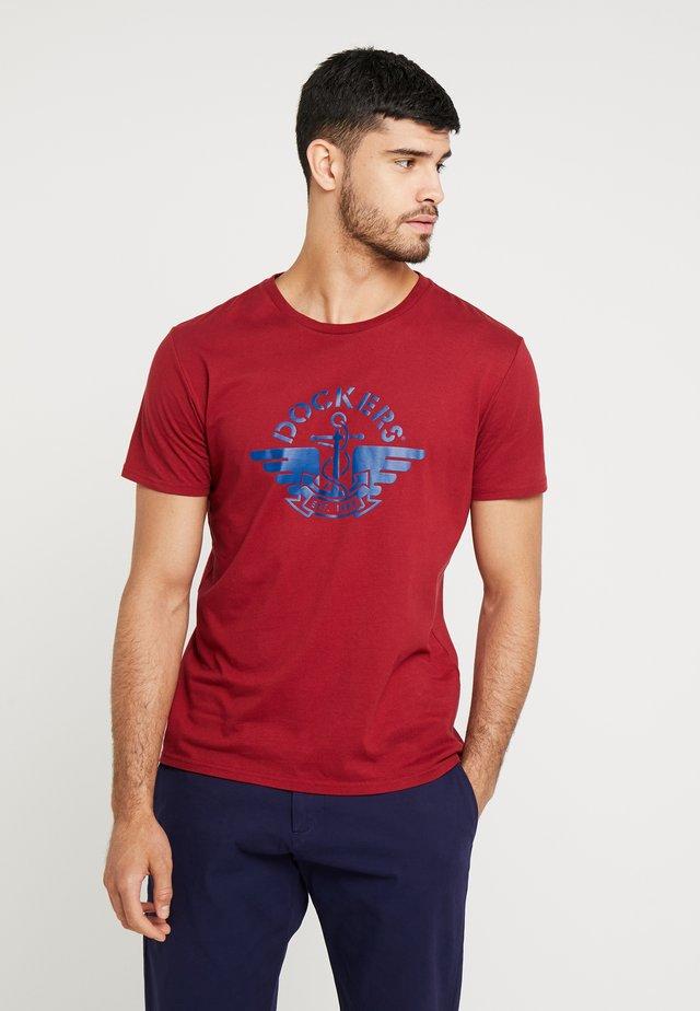 LOGO TEE - T-Shirt print - logo biking red/navy